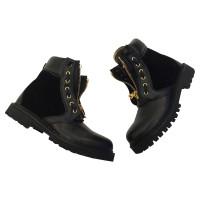 Balmain Leather Ankle Boots 38 EU