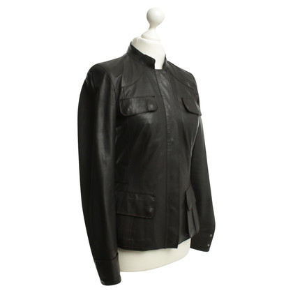 Hugo Boss Giacca in pelle marrone