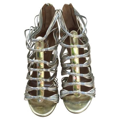 Aquazzura Golden sandals
