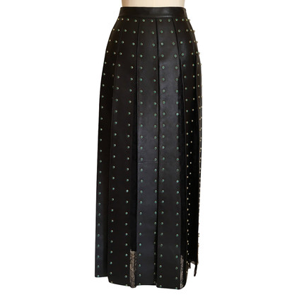 Valentino Pleated leather skirt