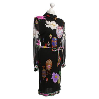 Leonard Seidenkleid mit floralem Print