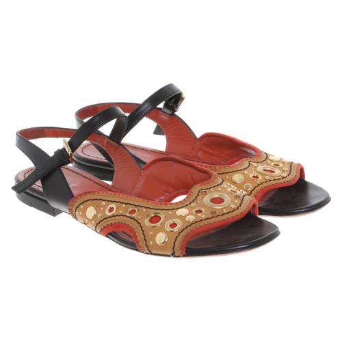 69edf124a1c Santoni Sandals with application - Second Hand Santoni Sandals with ...