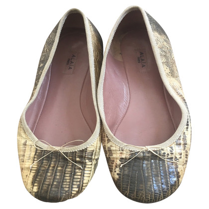 Alaïa Ballerinas made of lizard leather