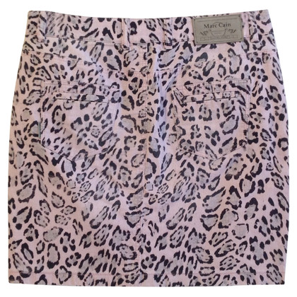 Marc Cain Denim skirt with Leopard pattern