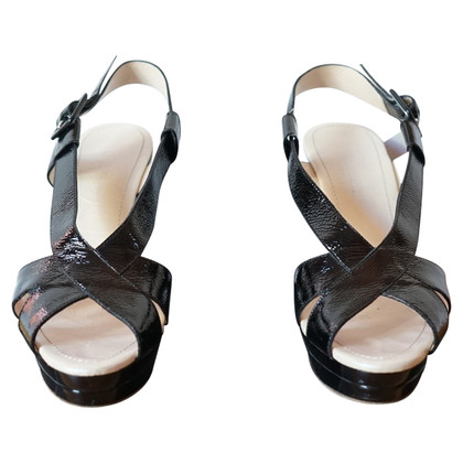 Jil Sander Patent leather wedges