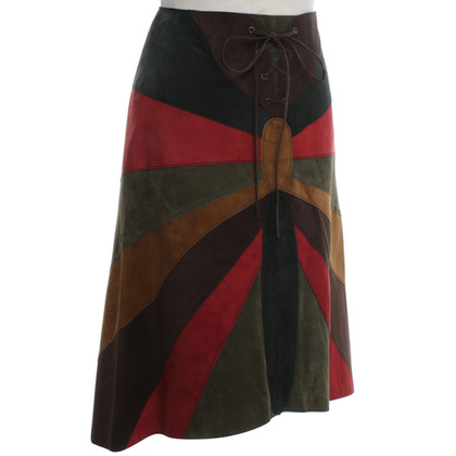 Dolce & Gabbana Leather skirt in multicolor