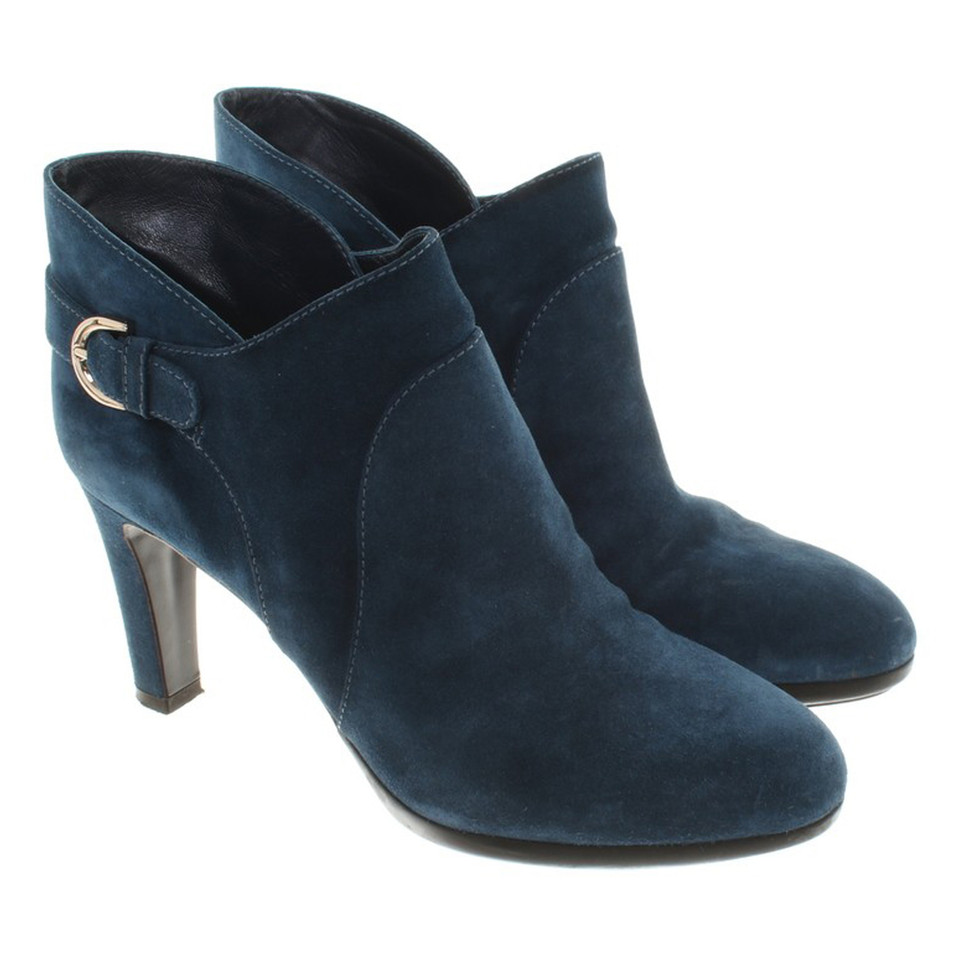 Sergio Rossi Wild leather ankle boots in blue