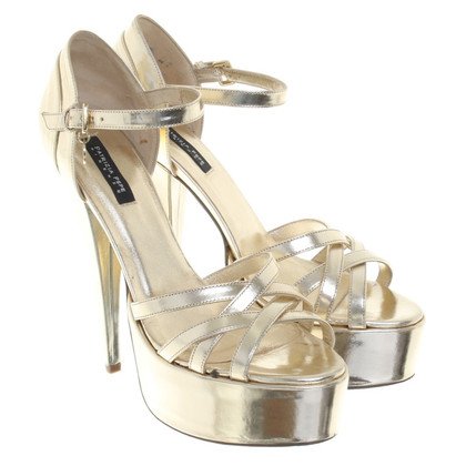 Patrizia Pepe Gold-colored plateau sandals