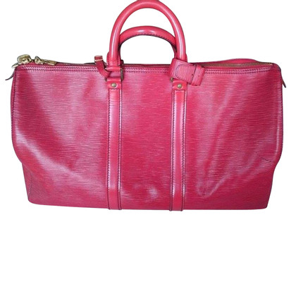"Louis Vuitton ""Keepall 45 EPI leather"" in red"
