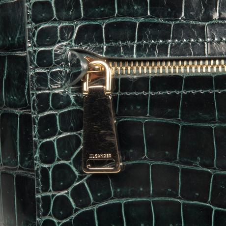 Klassische Online-Verkauf Spielraum Jil Sander Tasche aus Krokodilleder Grün Neueste Online-Verkauf AhpLc0t