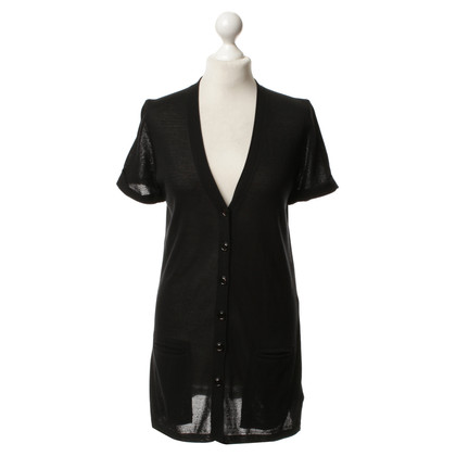 Marc Cain Short-sleeved Cardigan in black