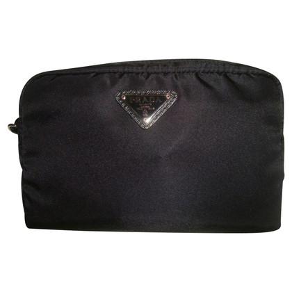 Prada Cosmetische zak in zwart nylon