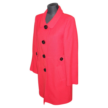Piu & Piu Coat in red wool