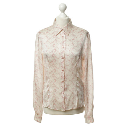 Miu Miu Patterned silk blouse