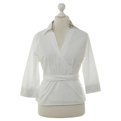 Burberry Wrap blouse in white