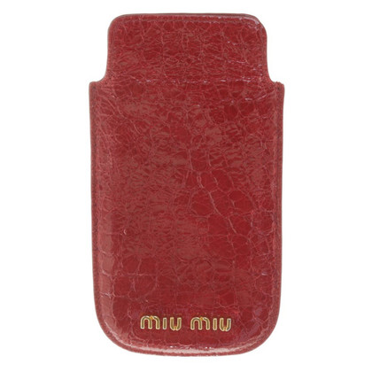 Miu Miu Phone Case in Fuchsia