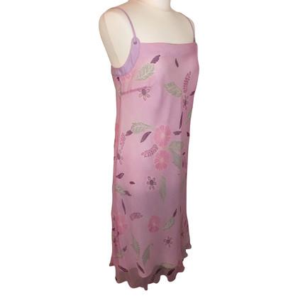 Laurèl zijden jurk in Pink