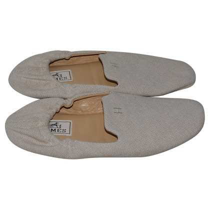 Hermès canvas ballet shoes