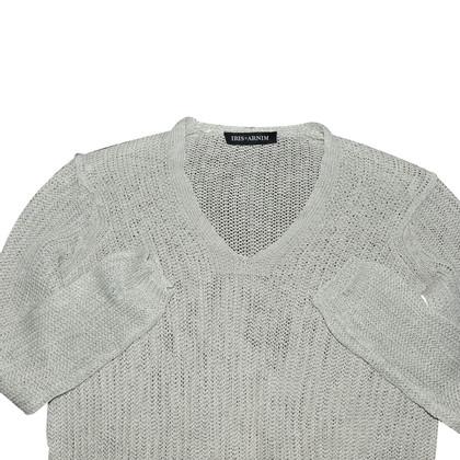 Iris von Arnim Gray Linen Sweater