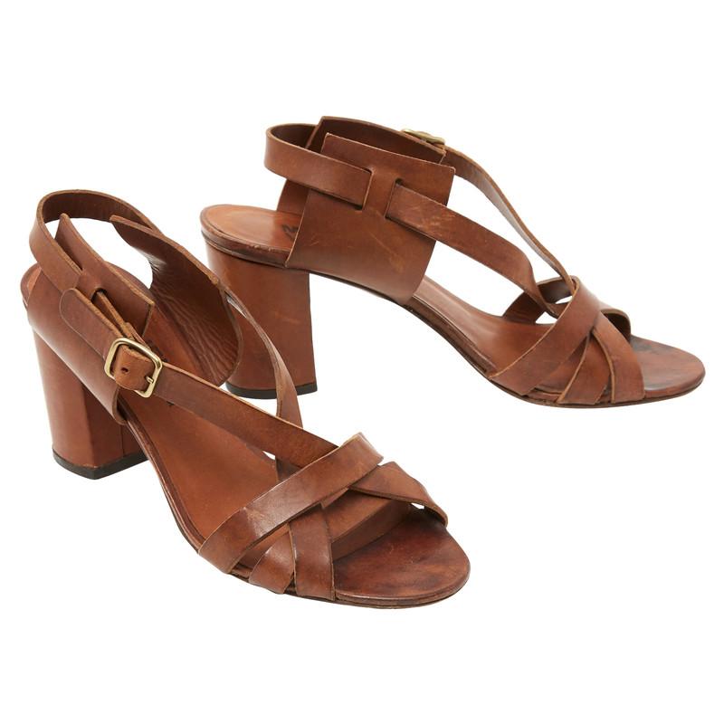 Michel Vivien Sandals Leather in Brown