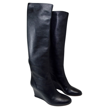 Neueste Preiswerte Online Billig Zum Verkauf Lanvin Stiefel mit Keilabsatz Schwarz Für Schöne Online 2018 Neueste 38U7jB3