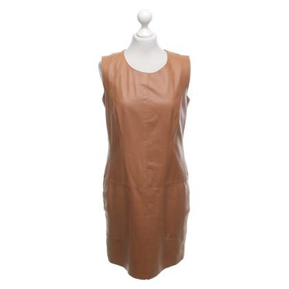 Steffen Schraut Leather dress in brown