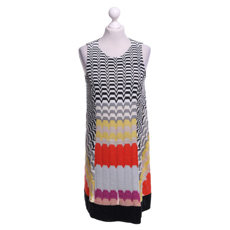 Missoni Gemustertes Kleid in Multicolor Bunt / Muster