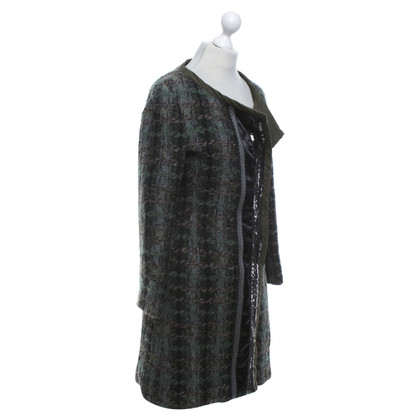 Alberta Ferretti Coat with plaid pattern