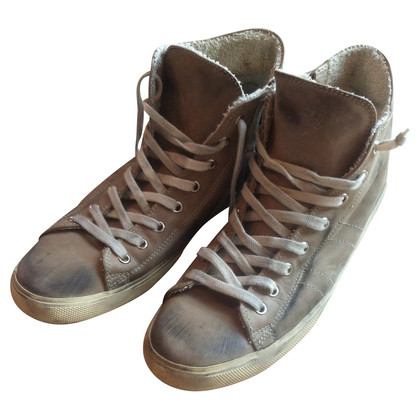 Leather Crown Hoge top sneakers