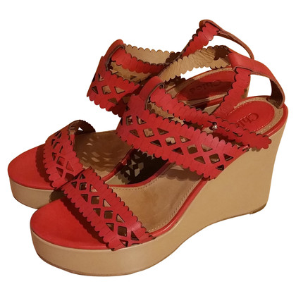 Chloé Wedges in Rot