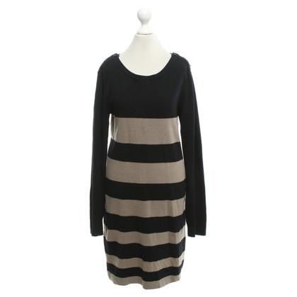 Max & Co Gebreide jurk zwart / Lichtbruin