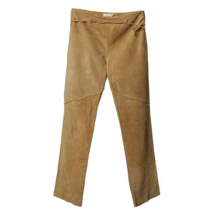 Pinko Pantaloni in pelle scamosciata