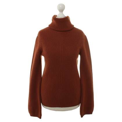 Etro Turtleneck Sweater in red/brown