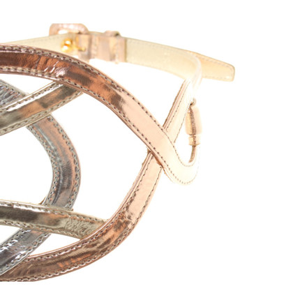 Miu Miu Waist belt made of metallic patent leather