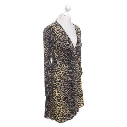 BCBG Max Azria Abito avvolgente con motivo leopardato