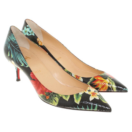 Christian Louboutin pumps with floral pattern