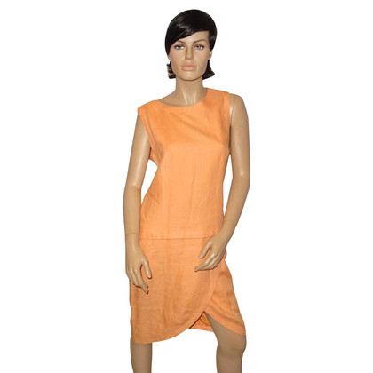 Chanel Linnen jurk in Orange