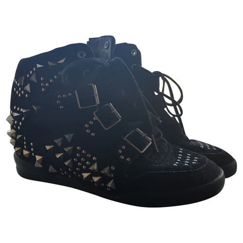 low priced 0c24f 886a7 The Kooples Scarpe da ginnastica con zeppa con borchie ...