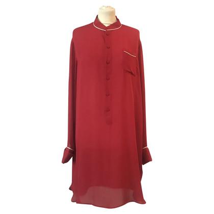 Tomas Maier zijden jurk in het rood