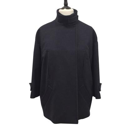 Brunello Cucinelli Cappotto di lana blu