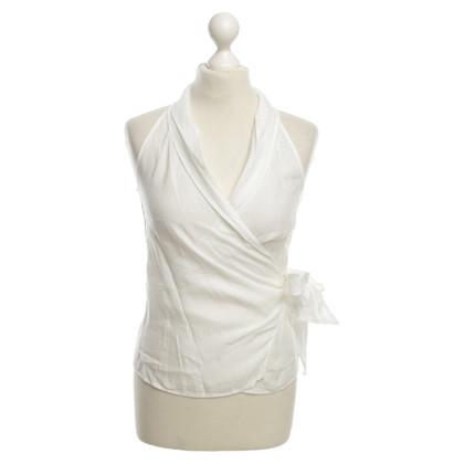 Max Mara Linen blouse in white