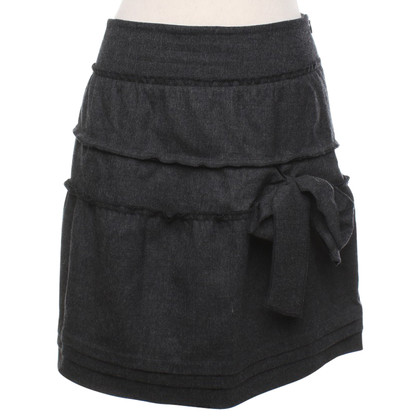 Alberta Ferretti skirt in dark gray