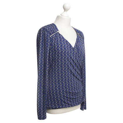 Michael Kors Wickelshirt in Blau