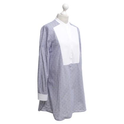 BCBG Max Azria Camicia di vestito in blu / bianco