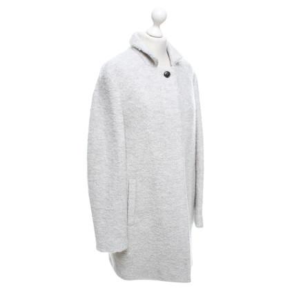 Closed Coat in mottled light gray