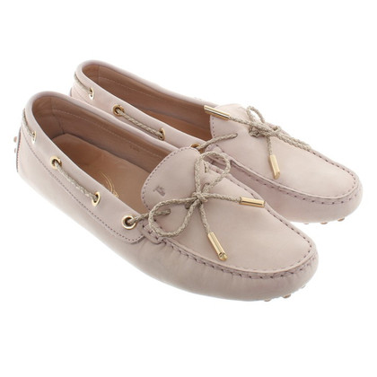Tod's Suede loafers in nude