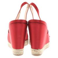 Prada cunei slingback in rosso