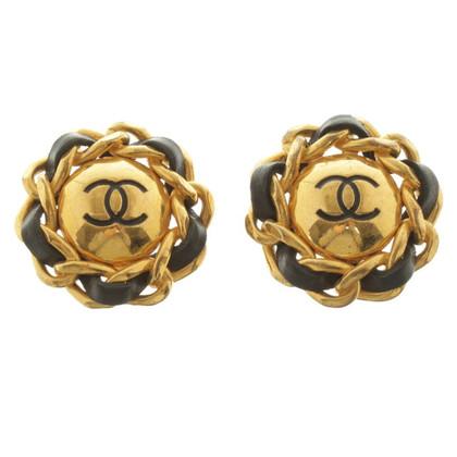 Chanel Goudkleurige oor clips