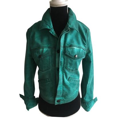 Jet Set giacca di jeans in verde