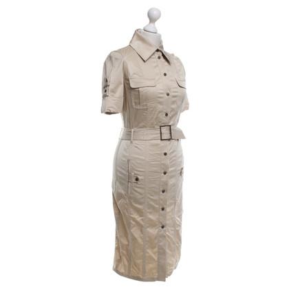 Karen Millen Short-sleeved dress in beige
